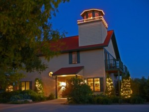 You're guided by beacons of light to the Door County Lighthouse  Inn.