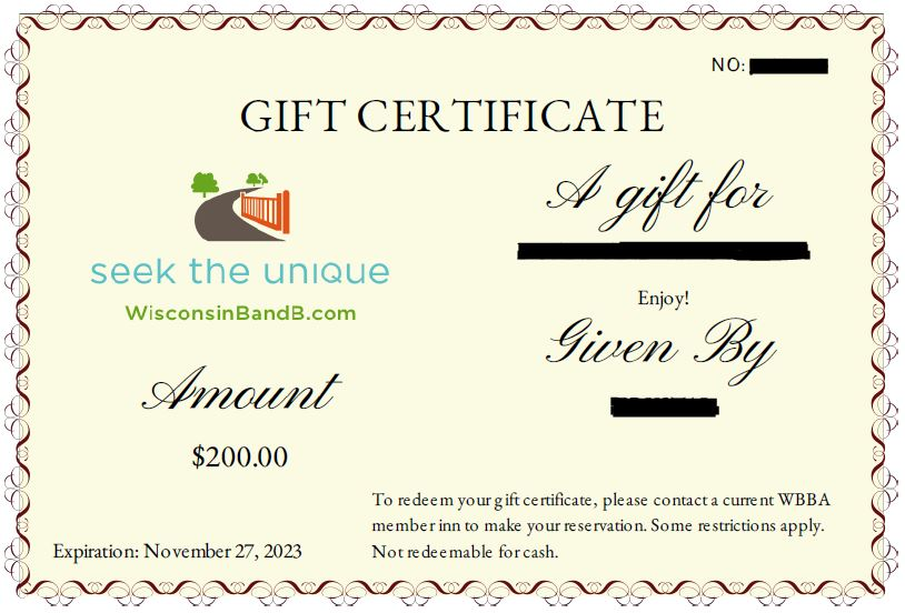 Gift Certificate Picture