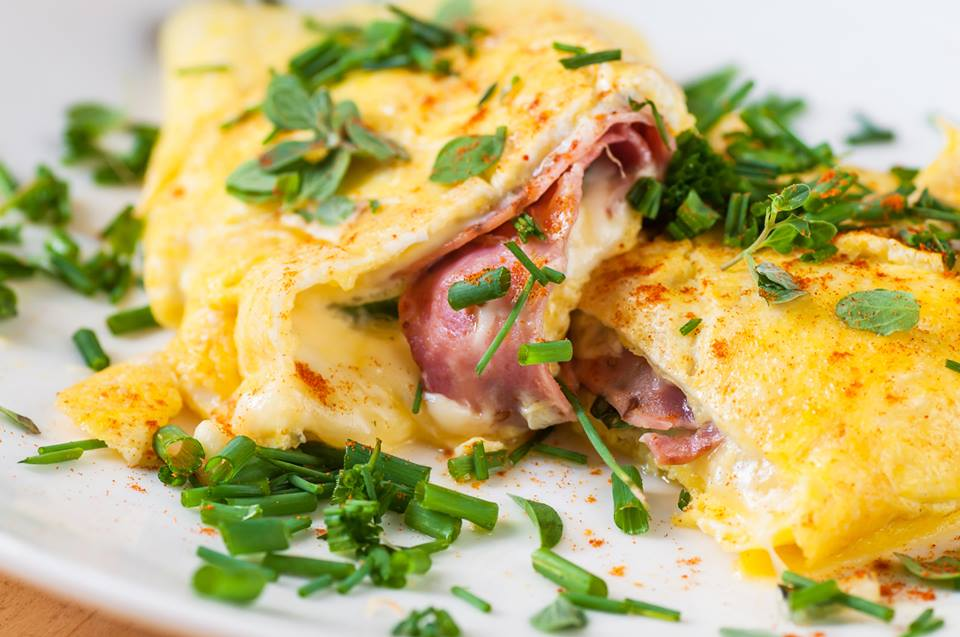 Basil Ham and Swiss Rolled Omelet Westby House