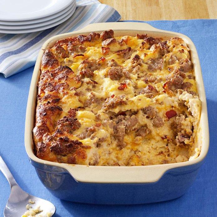 Cheese-Sausage-Strata Fall Recipe