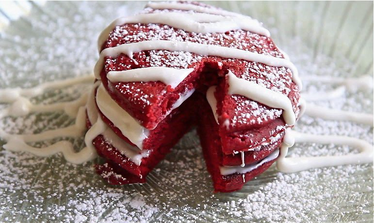 Red Velvet Pancakes valentine recipes