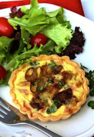Honeybee Inn Ham and onion quiche savory recipes