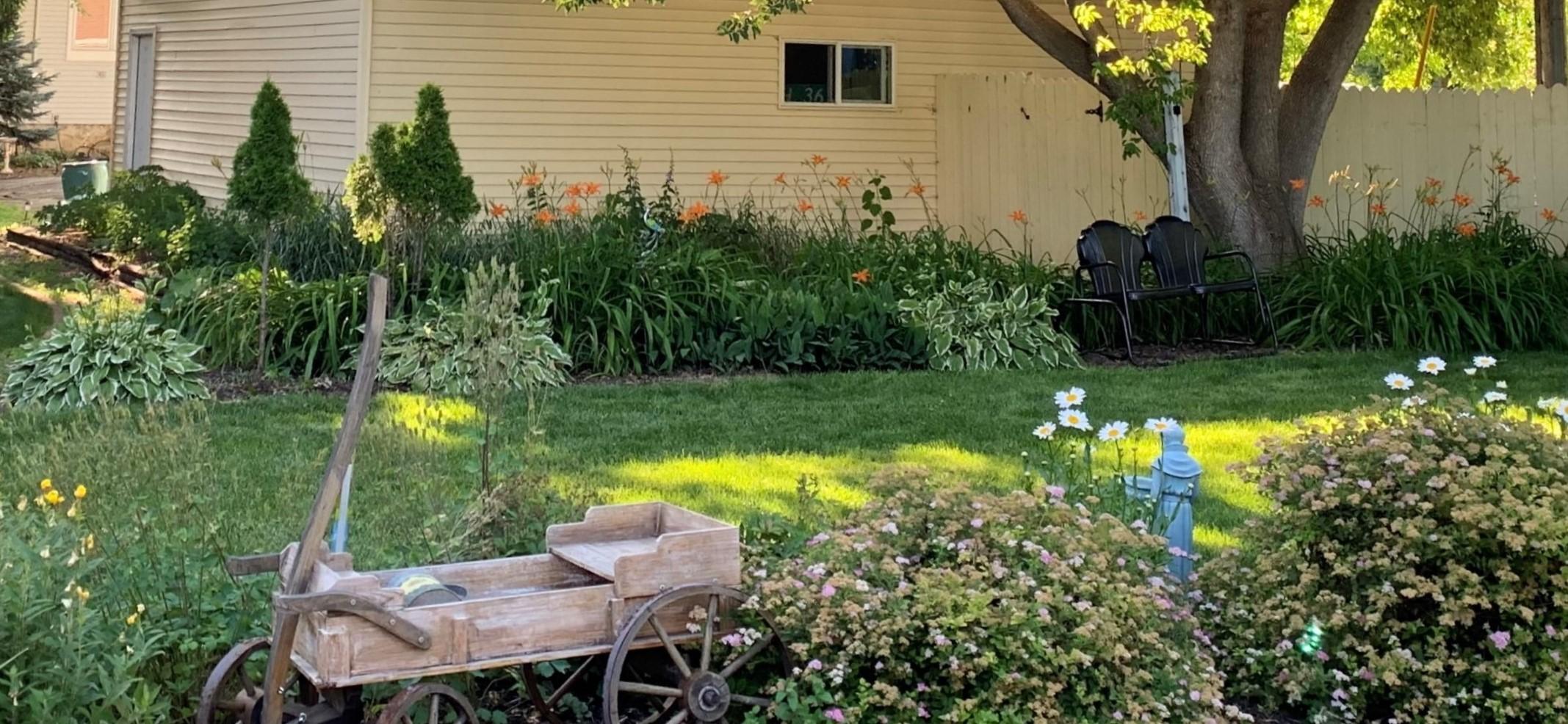 Franklin Street Inn pollinator gardens