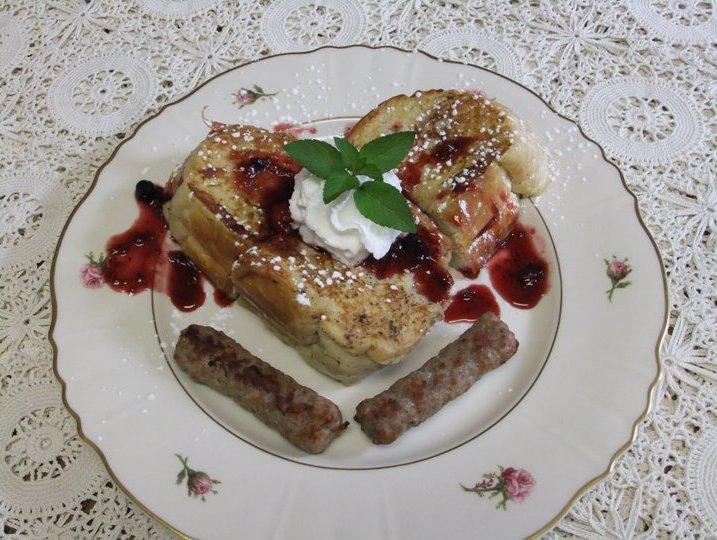Raspberry Stuffed French Toast