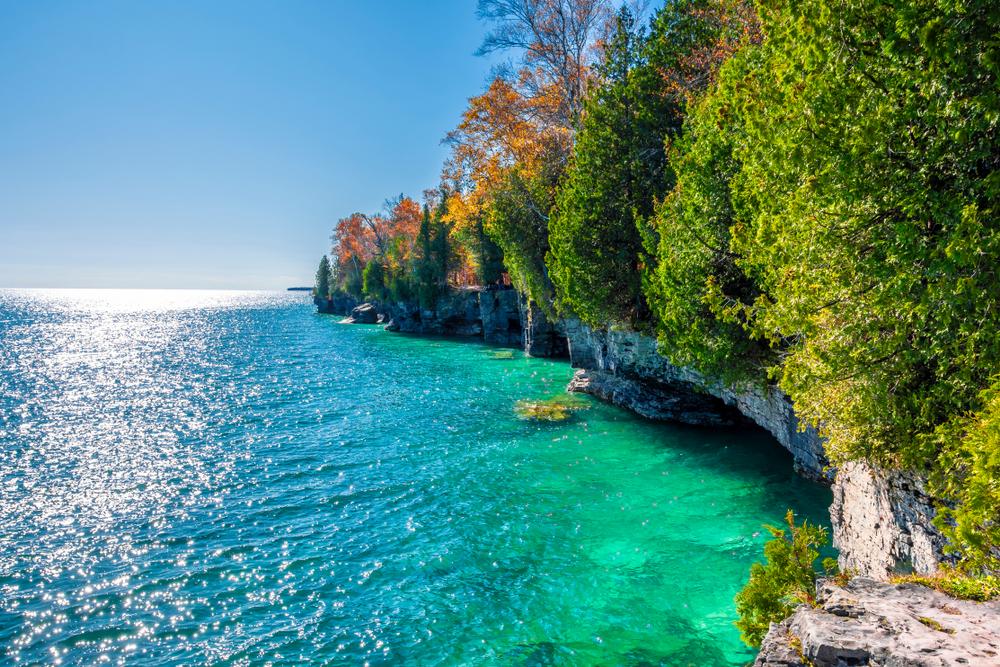 Stunning Door County Fall Colors on the coastline