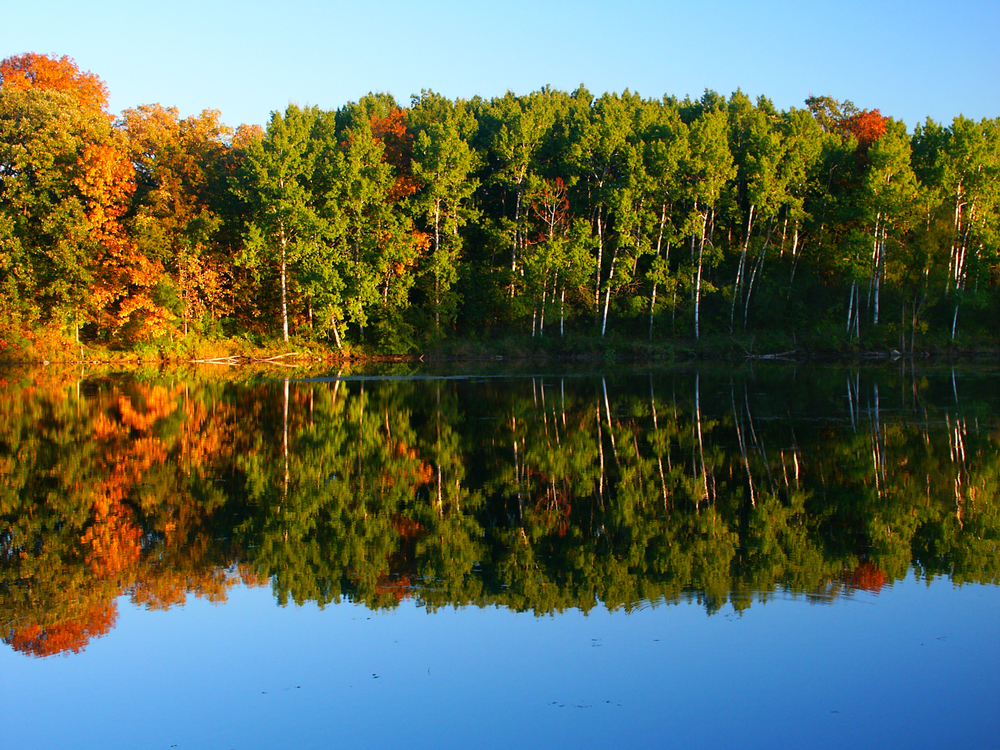 Stunning fall views while hiking in the Kettle Moraine State Forest in Wisconsin